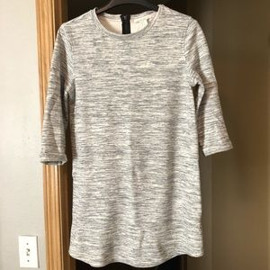 Marled Gray Sweatshirt Tunic